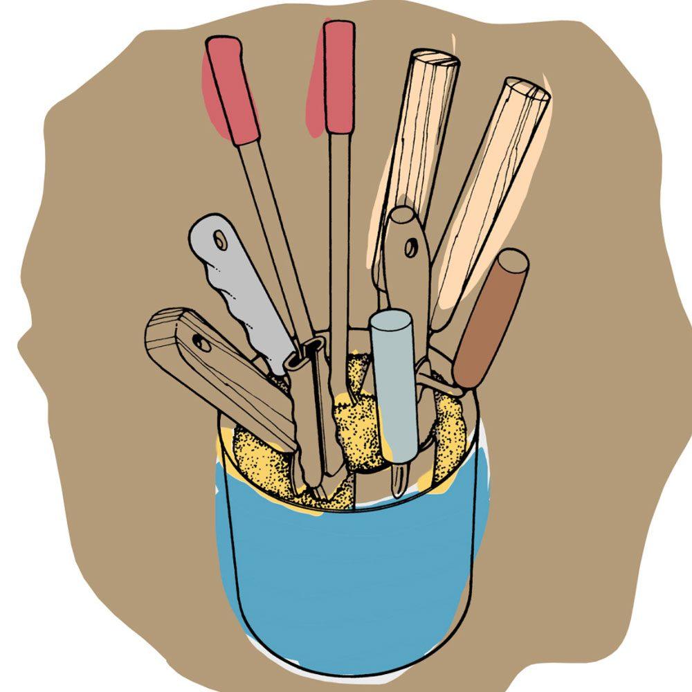 Astuces de bricolage: entreposage d'outils à l'abri de la rouille.