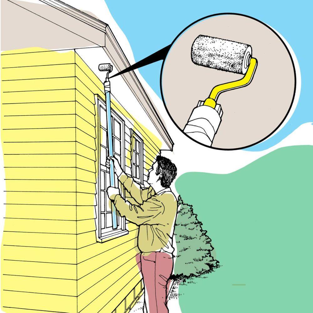 Astuces de bricolage: peinturer des soffites et des fascias.