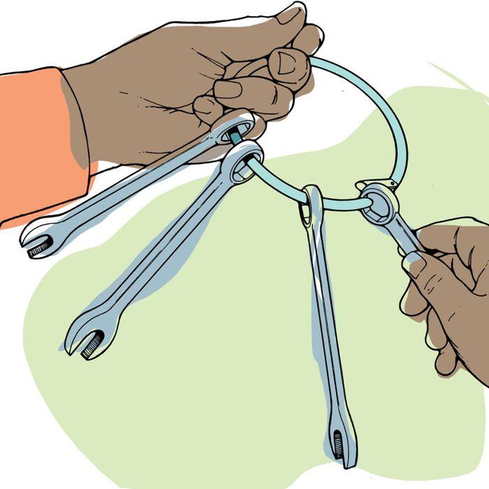 Astuces de bricolage: faire un trousseau de clés à fourche.
