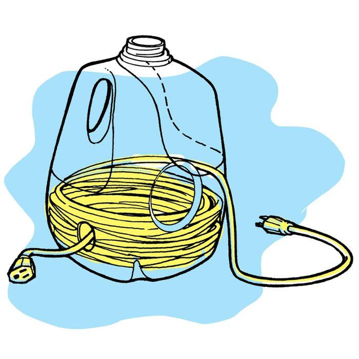 Astuces de bricolage: un distributeur de rallonge électrique.