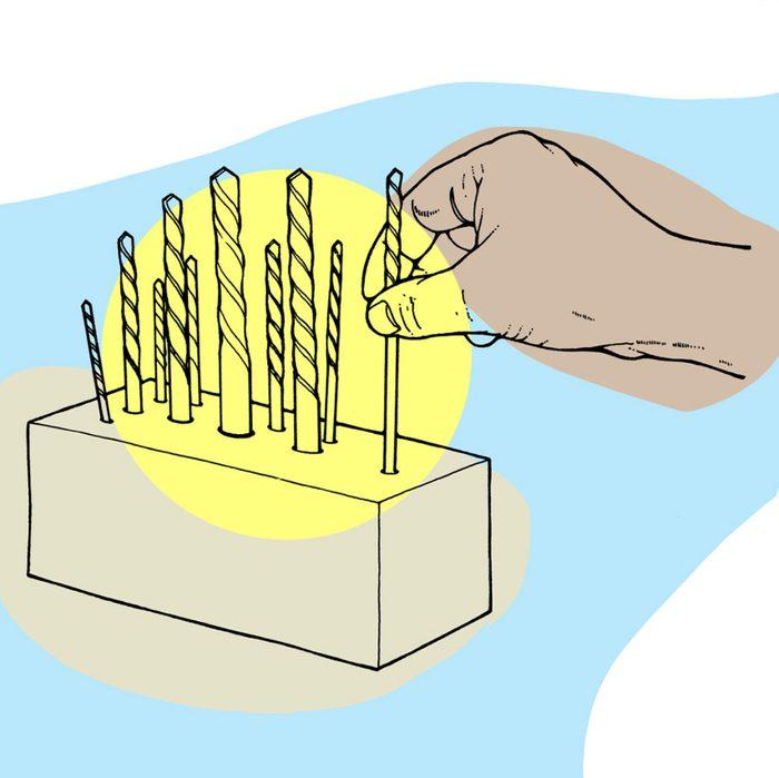Astuces de bricolage: comment faire un porte-foret.