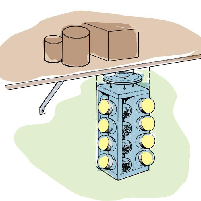 Astuces de bricolage: faire un présentoir à vis et boulons.