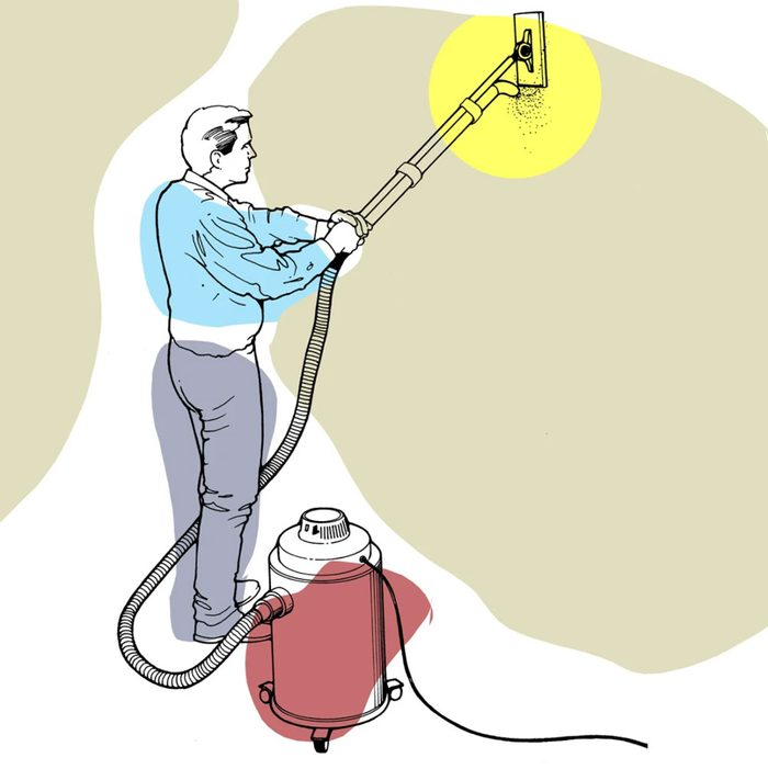 Astuces de bricolage: comment sabler une cloison sèche sans gâchis.