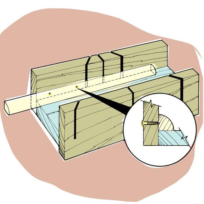 Astuces de bricolage: scier des moulures sans qu'elles bougent.
