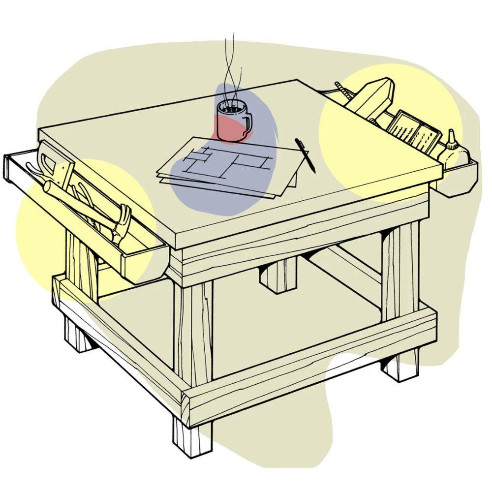Astuces de bricolage: faire un coffre à outils… de table!