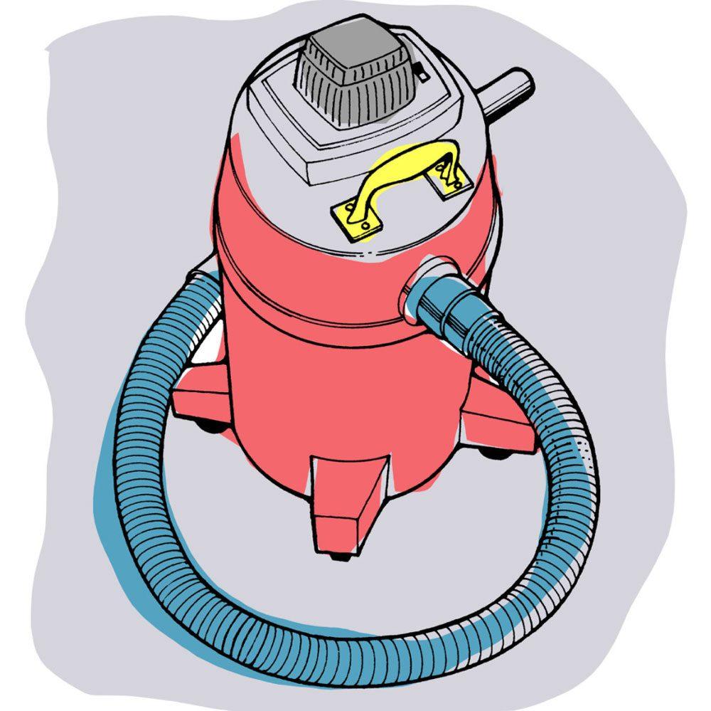 Astuces de bricolage: transporter facilement un aspirateur d'atelier.