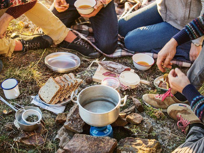 Ne pas ignorer les règles de sécurité en camping.