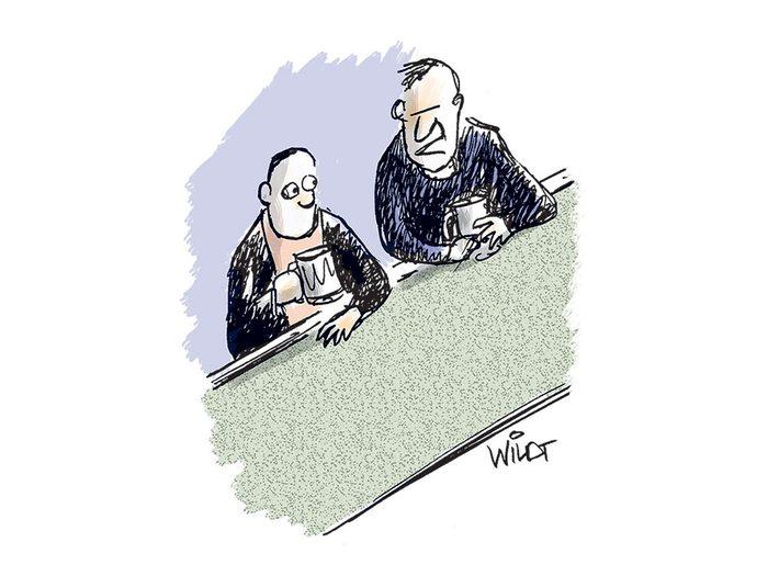 Caricatures: «Je suis vieux jeu.»