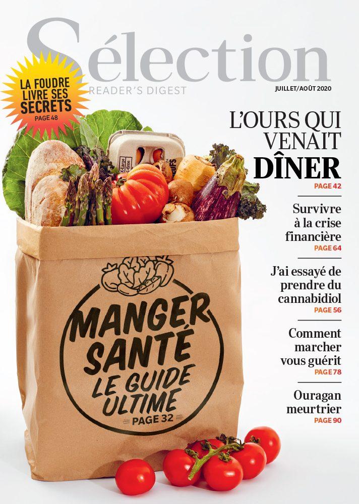 Couverture du magazine Sélection du Reader's Digest de juillet/août 2020.