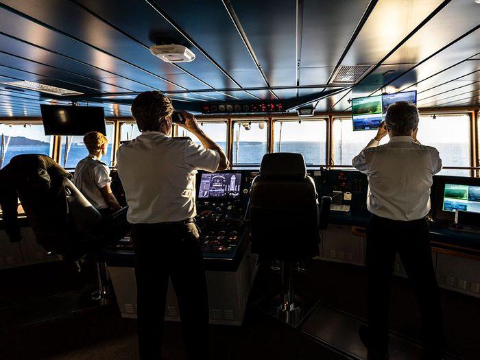 Flâner sur le pont du navire ne sera plus possible lors d'une croisière.