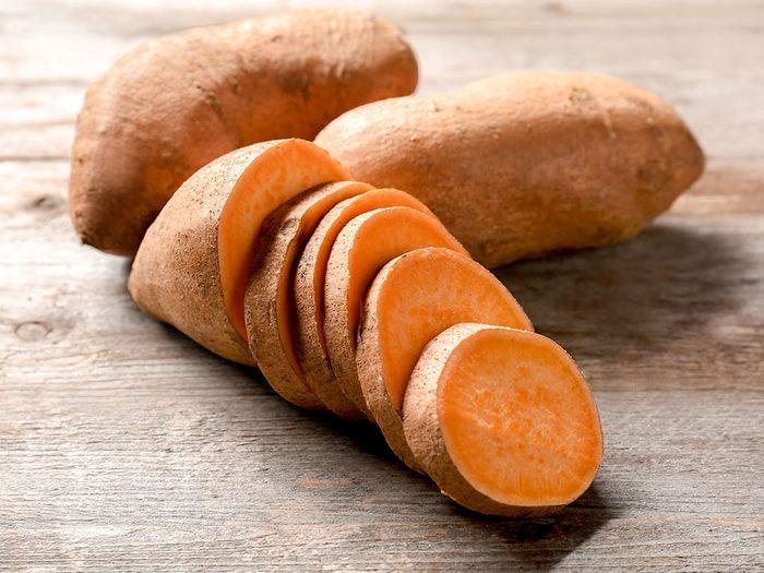 De la patate douce pour un déjeuner santé.