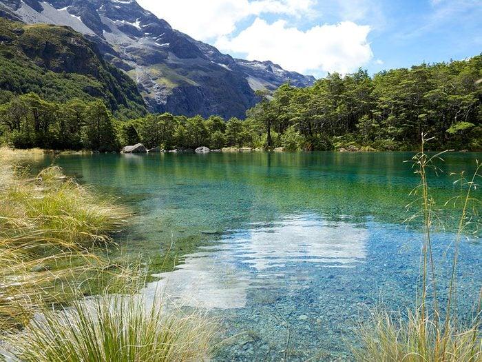 Le lac «The Blue Lake», en Nouvelle-Zélande, dont l'eau est claire.