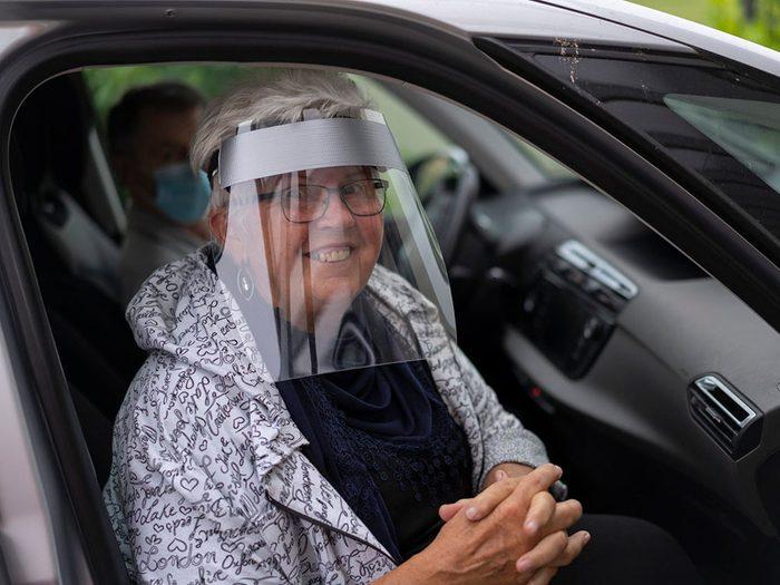 L'avantage des masque de protection sous forme de visières.