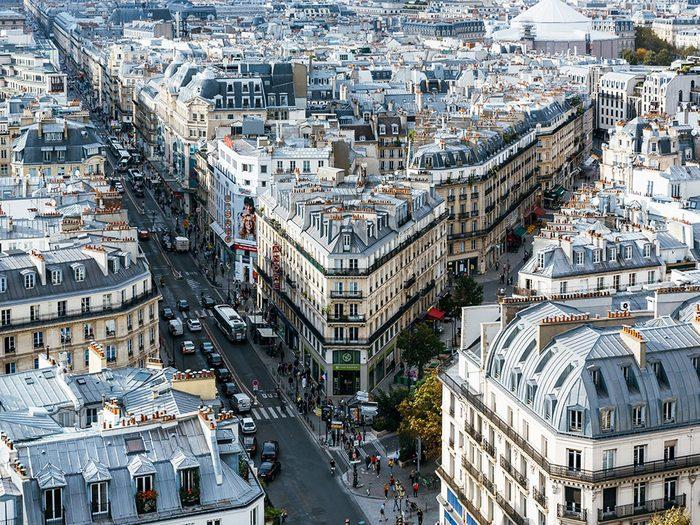 Photo aérienne de drone de Paris, en France.