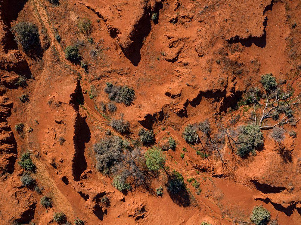 Photo aérienne de drone des contrées australiennes.