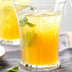 Thé glacé à la limonade aux abricots