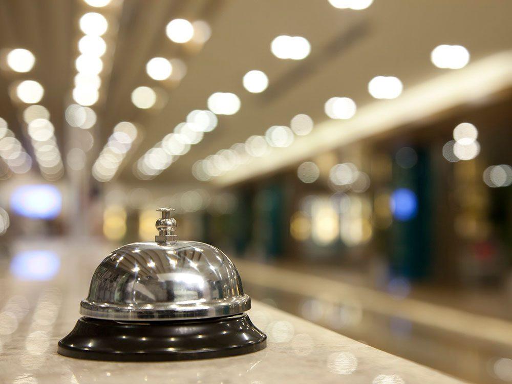 Renseignez-vous sur les procédures en place avant de faire votre réservation à l'hôtel.