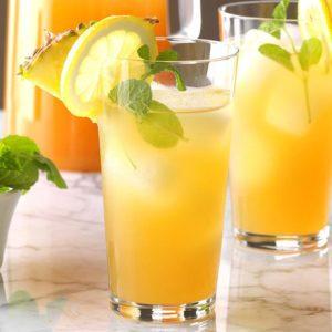 Thé glacé à l'ananas