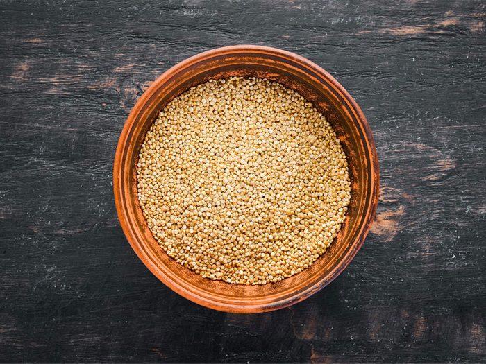 À 50 ans et plus, consommez du quinoa.