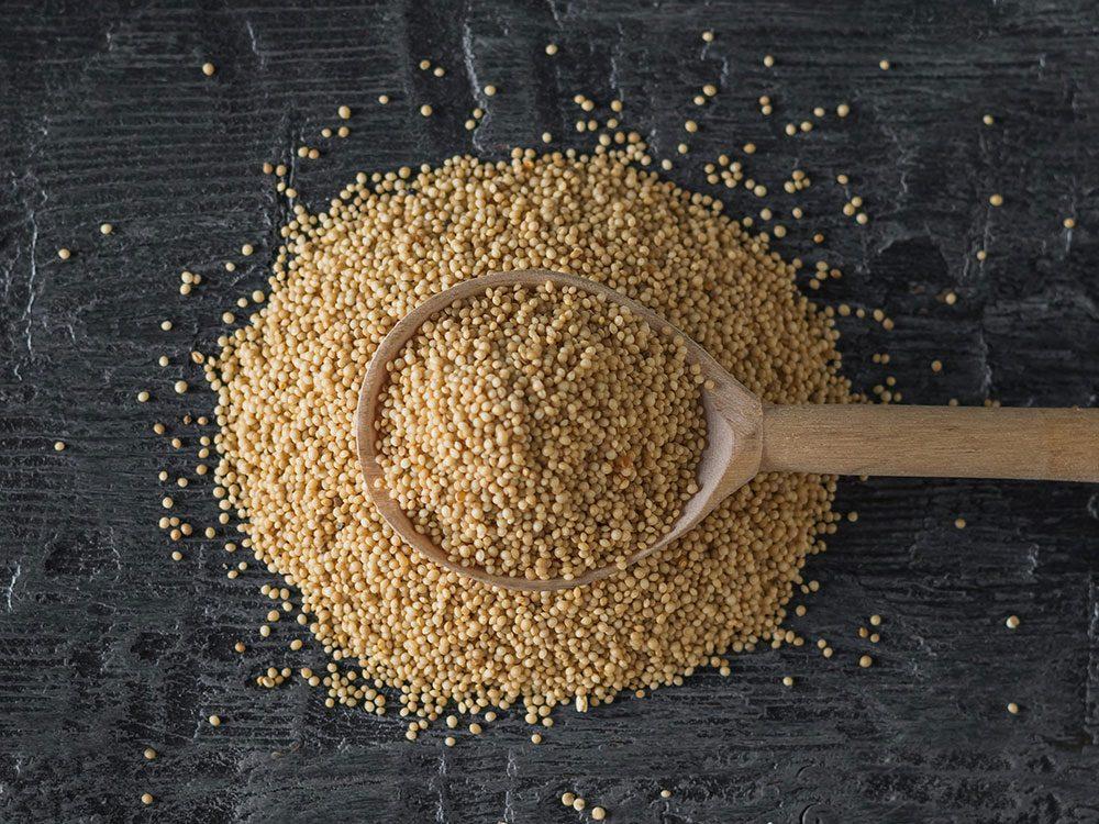 L'amarante fait partie des aliments riches en fer.