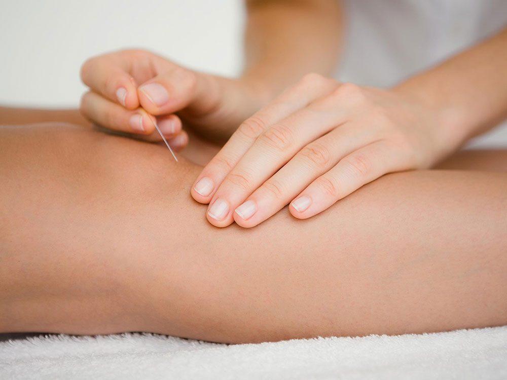 L'acupuncture peut soulager les allergies saisonnières.