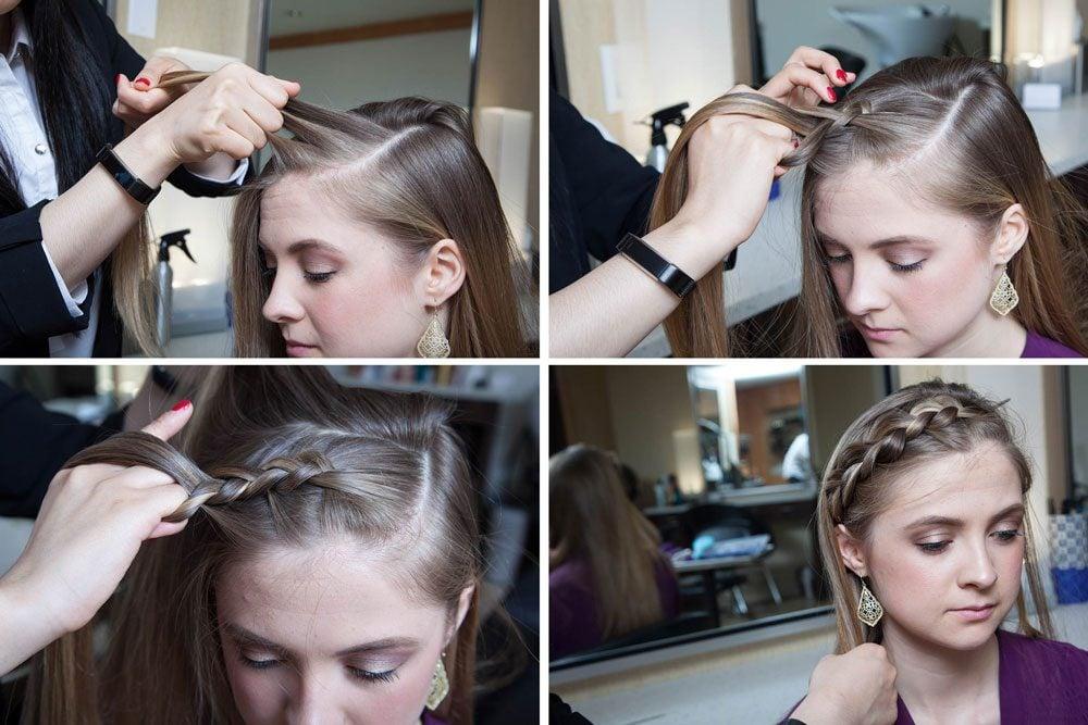 Mode d'emploi pour obtenir cette coiffure facile: la frange tressée à la hollandaise.