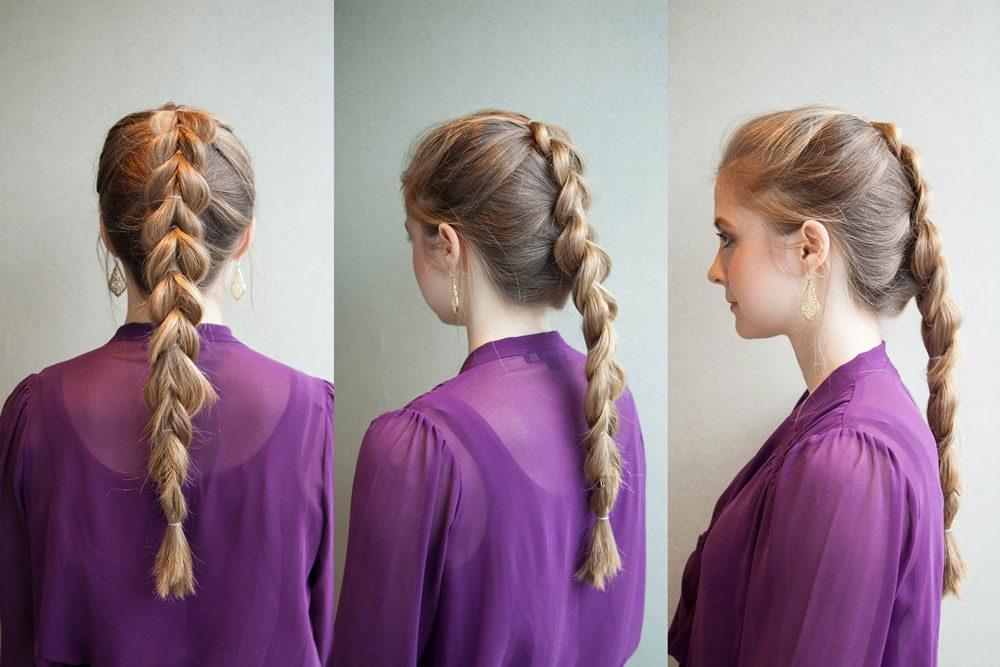 La queue de cheval tressée est une coiffure facile à faire!