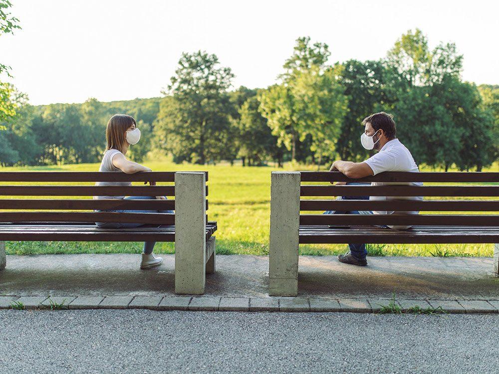 La distanciation sociale et le pouvoir de la confiance.