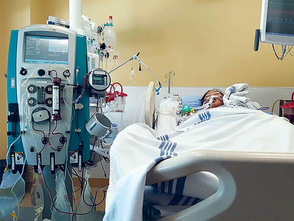 L'intervention médicale était finalement nécessaire pour Verna.