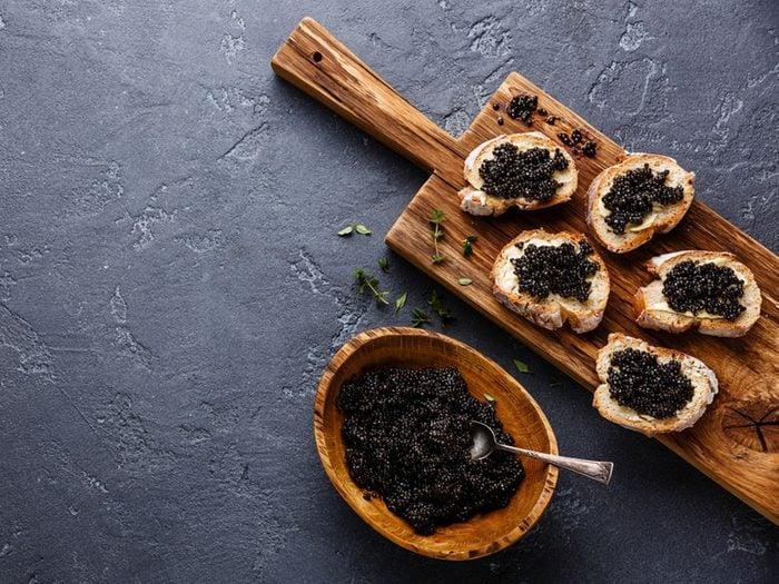 Le caviar sauvage ne fait pas partie des meilleurs poissons à manger