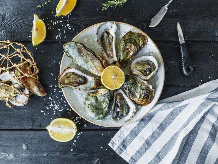 Les huîtres font partie des meilleurs poissons à manger