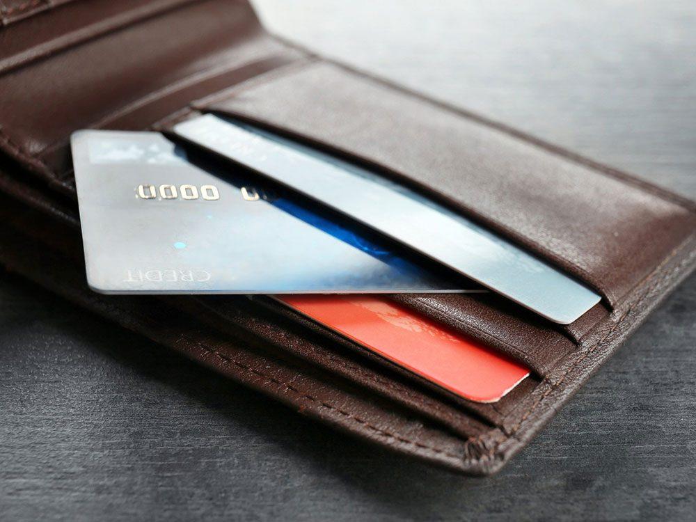 Pensez à bien nettoyer vos cartes de crédit.