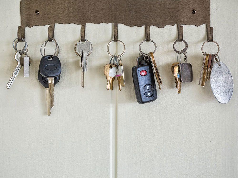 Pensez à bien nettoyer vos clés.