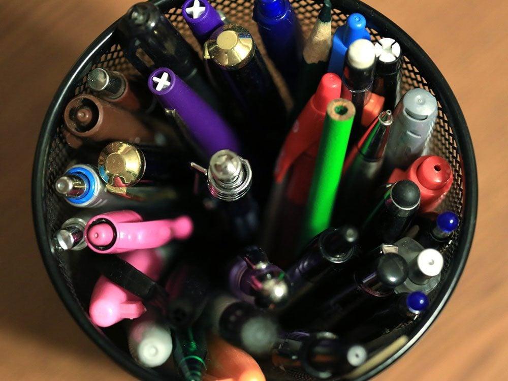 Pensez à bien nettoyer les stylos.