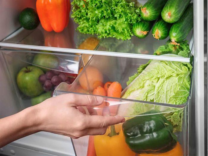 Les bacs à légumes font partie des objets du quotidien qui est souvent mal utilisé.