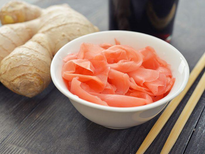 Le gingembre à sushis est l'un des objets du quotidien qui est souvent mal utilisé.