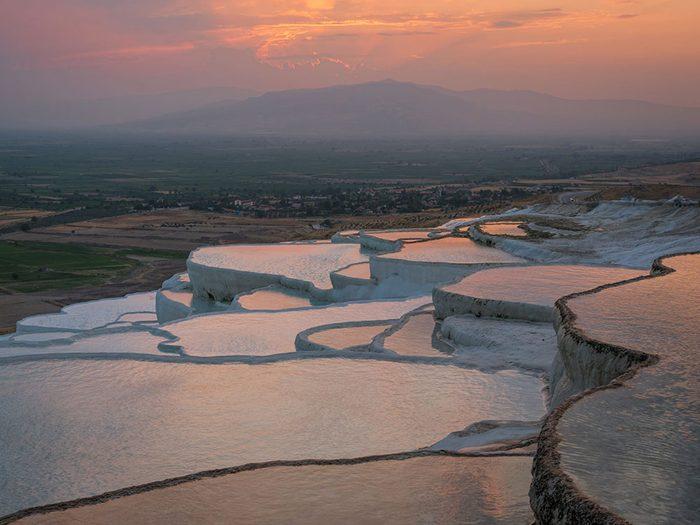 Les piscines de Pamukkale sont des piscines de rêve.