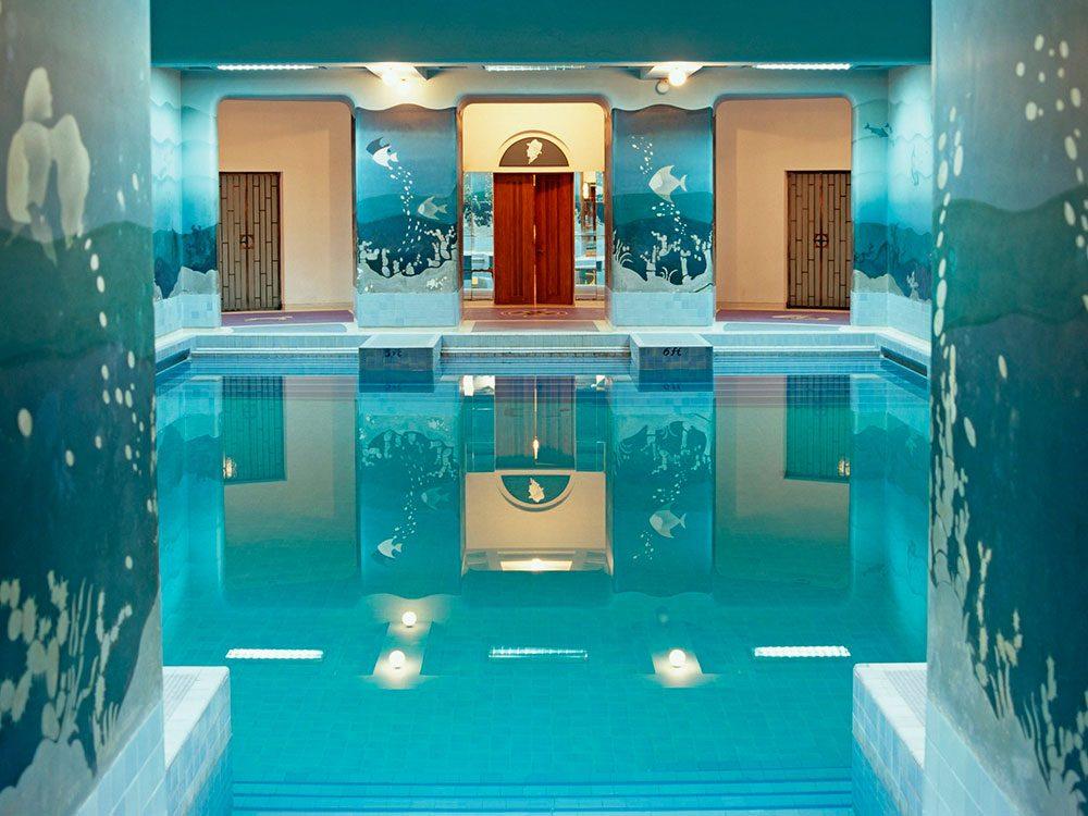 La piscine du zodiaque du Palais Umaid Bhawan, est une piscine de rêve.