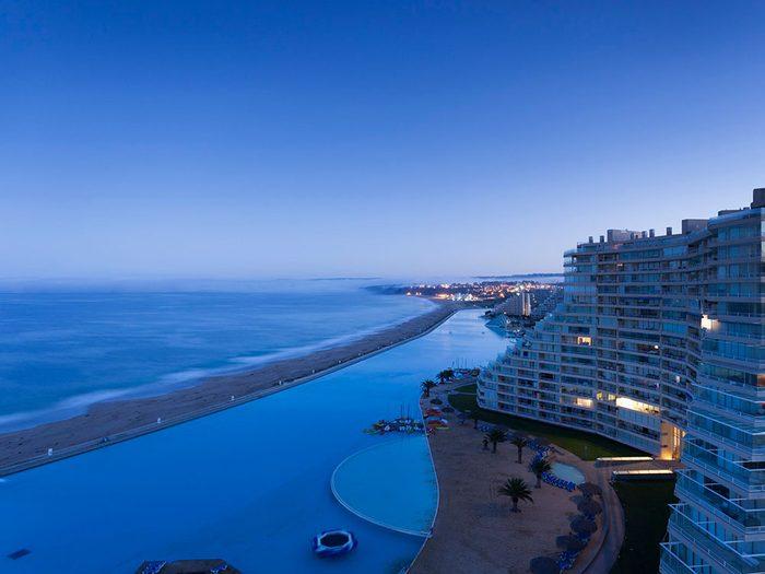 La piscine de San Alfonso del Mar est une piscine de rêve.