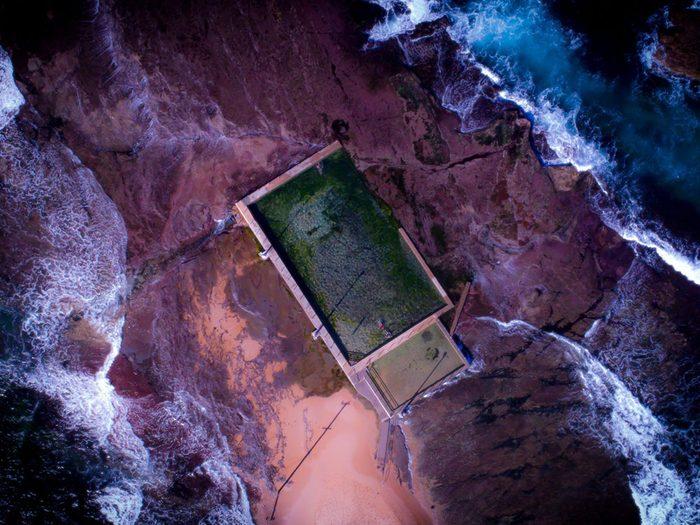 La piscine rocheuse de Mona Vale Beach est une piscine de rêve.