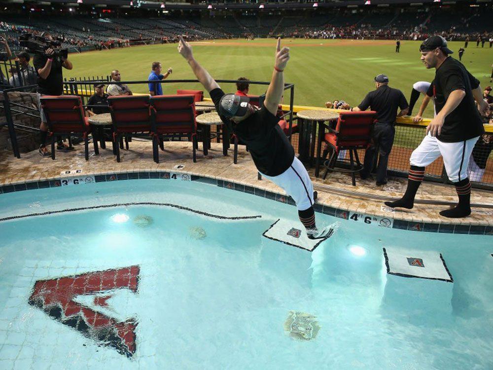 La piscine Arizona Diamondbacks est une piscine de rêve.