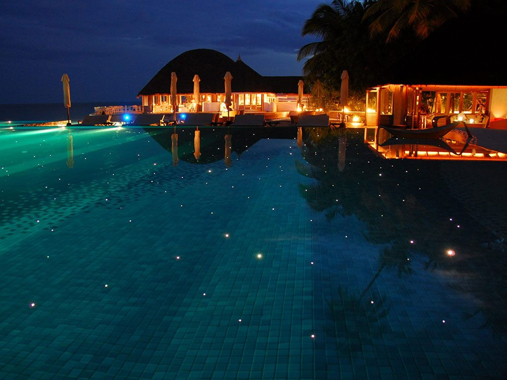 Huvafen Fushi est une piscine de rêve.