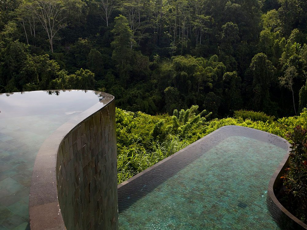 La piscine des jardins suspendus d'Ubud est une piscine de rêve.