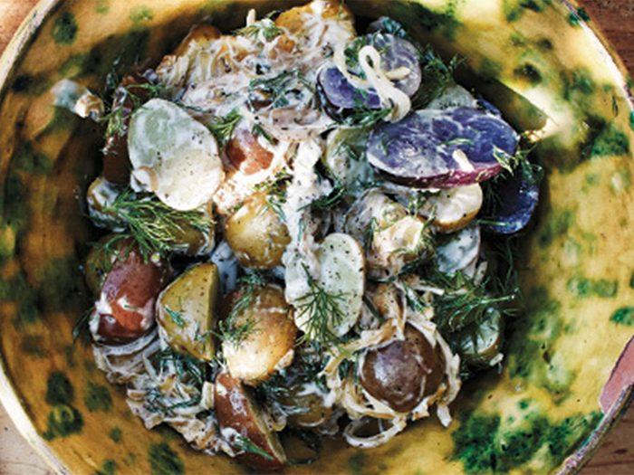 Salade de pommes de terre signée Ruby Watchco.