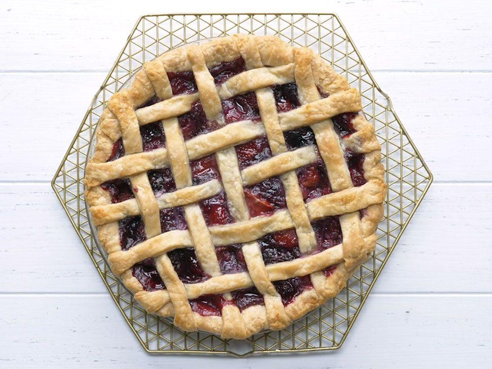 Recette de la tarte aux petits fruits.