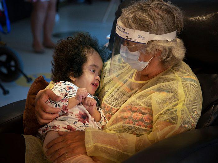 Création de groupes de deuil au centre de soins palliatifs pédiatriques.