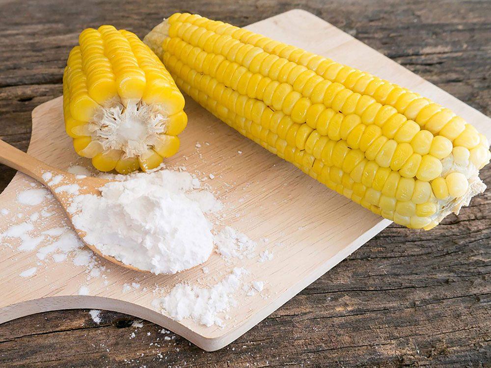 La date de péremption de la fécule de maïs n'a pas importance.
