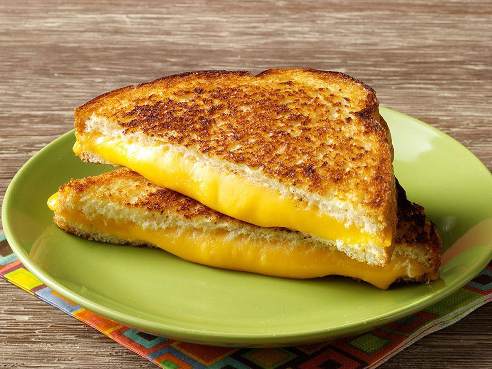 Grilled cheese au 4 fromages.