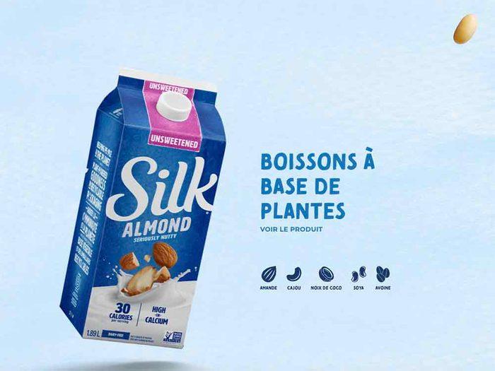 Découvrez les boissons à base de plantes de Silk.