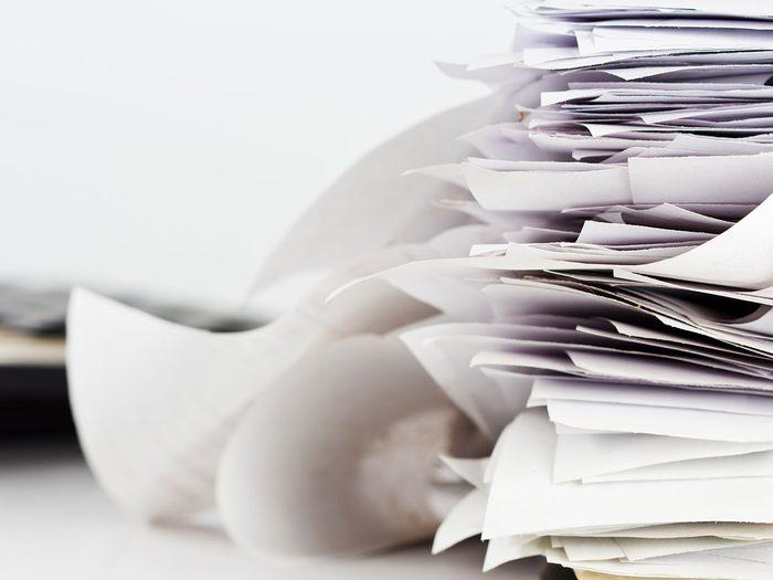 Il est temps de commencer le tri d'automne par les papiers accumulés.